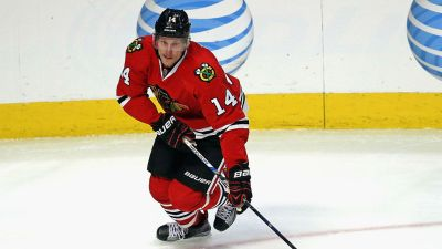 Panik Gets Hat Trick to Lead Blackhawks Past Predators, 5-3