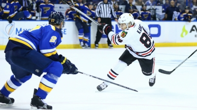 Blackhawks Beat Blues, Even Series at 1-1