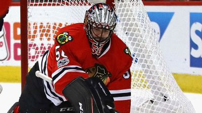 Crawford Goes Through On-Ice Workout in Chicago