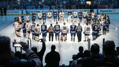 Blackhawks, Jets Honor Bus Crash Victims