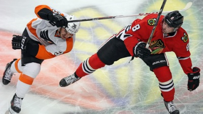 Hawks Pound Ray Emery in 7-2 Win