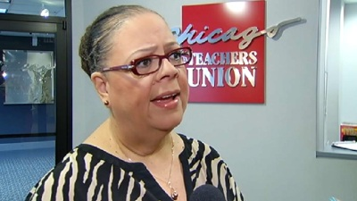 Karen Lewis Loans $40,000 to Her Campaign