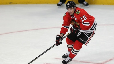 Sharp Scores Twice as Hawks Beat Devils 5-2