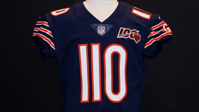 Bears to Auction Trubisky's 'Triple Digit' Jersey