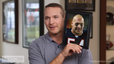 Brian Urlacher Says Goodbye to Being Bald