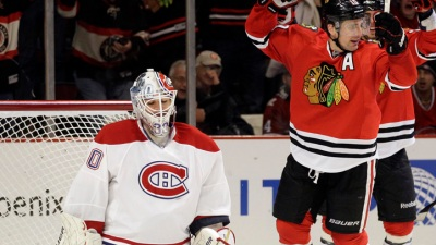 Brunette, Sharp Lead Hawks Past Canadiens