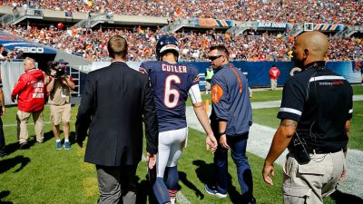 Cutler Out, Jeffery Limited in Bears' Practice