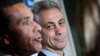 Emanuel Bets on Hawks, Challenges LA Mayor