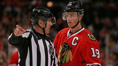Toews Nets Hat Trick as Hawks Knock Off Senators