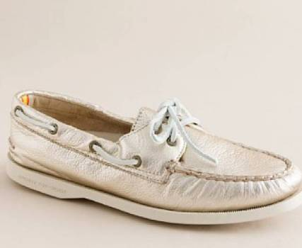Metallic Boat Shoes
