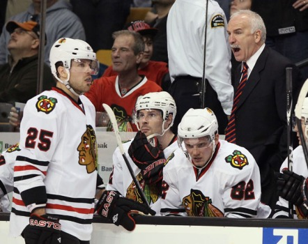 Tired Hawks Lose to Bruins