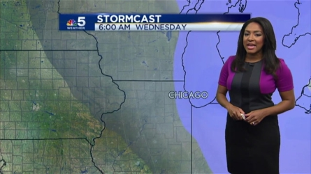 After a cloudy, breezy Sunday, there's a chance of light snow to start the work week. NBC 5 Meteorologist Alicia Roman has your latest forecast.