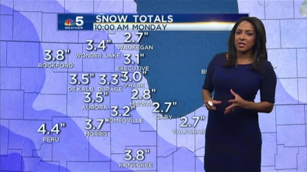 The snow will begin to fall in the Chicago area Sunday morning. NBC 5 Meteorologist Alicia Roman explains just how much snow residents should expect to see, and when the system will move out.