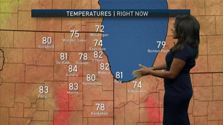 As a few isolated storms made their way through parts of the Chicago area Sunday afternoon, a chance of rain remains into the evening. NBC5 meteorologist Alicia Roman has your full forecast.