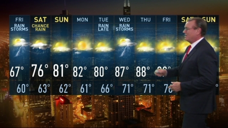 Brant Miller has the latest forecast for the Chicago area.