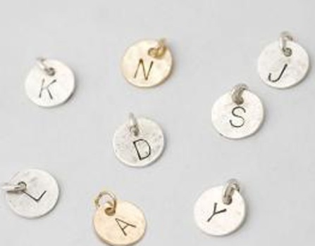Alphabet Disc Necklaces