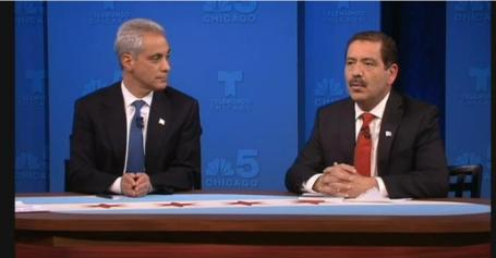 Final Debate for Emanuel and Garcia a Heated One
