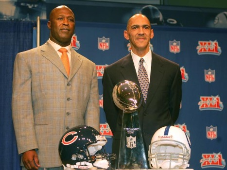 Dungy Drops In At Halas Hall