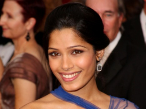 "Freida Pinto Escaped the Slums, But Not ""Apes"""