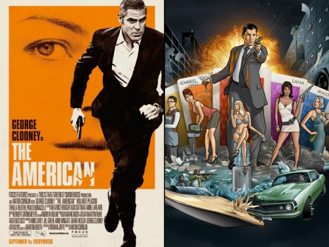 "Now On Home Video: Dueling Super Spies - ""The American"" and ""Archer"""
