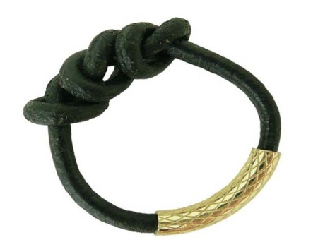 Knotted Leather Ring