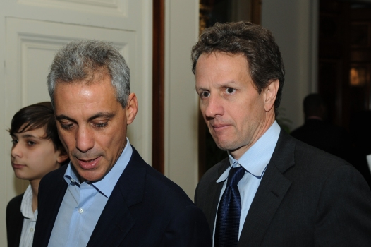 Rahm Finally Makes Nice With Treasury Secretary