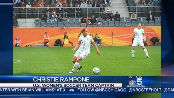 U.S. Soccer Gold Medalist Christie Rampone Visits NBC 5 Morning Team