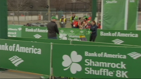 Winners of the 2019 Shamrock Shuffle Cross the Finish Line