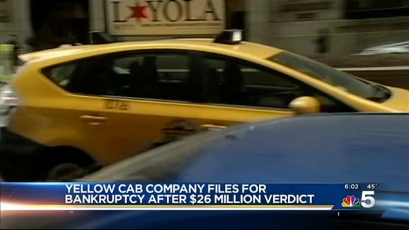 Yellow Cab Files For Bankruptcy After $26 Million Verdict