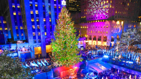 rockefeller tree lighting time lapse nbc chicago