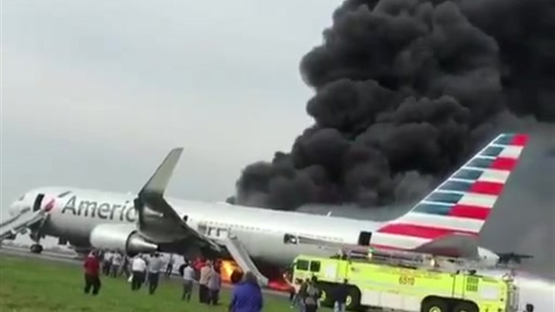 NTSB Details Chaos, Panic on Burning Jet at O'Hare Last Fall