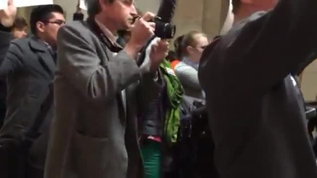 Protesters Reject Emanuel Campaign Video