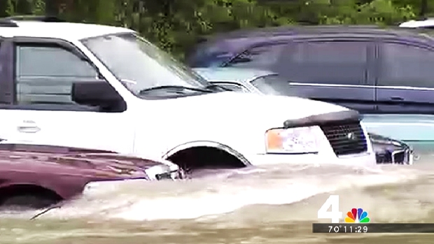 [DC] Laurel Car Lot, Other Areas Flood After Dam Gates Opened