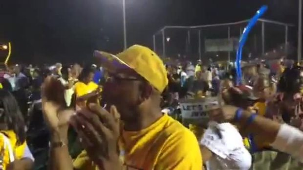 Crowd Reacts to Jackie Robinson West Win