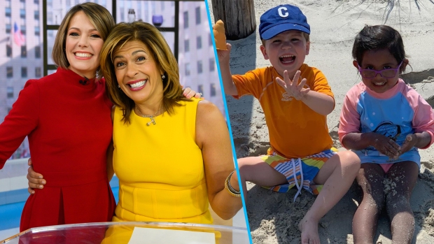 [NY] Hoda Kotb's Daughter And Dylan Dreyer's Son Have Beach Day