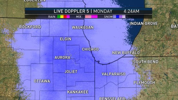 [CHI] Another Round of Spring Snow Falls Across Chicago Area