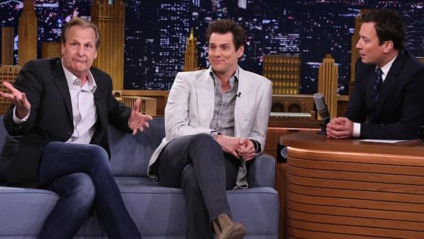 "[NATL] Fallon: Jim Carrey and Jeff Daniels Talk ""Dumb and Dumber To"""