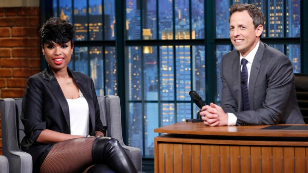 [NATL] Meyers: Jennifer Hudson Talks About Her Dancing Son