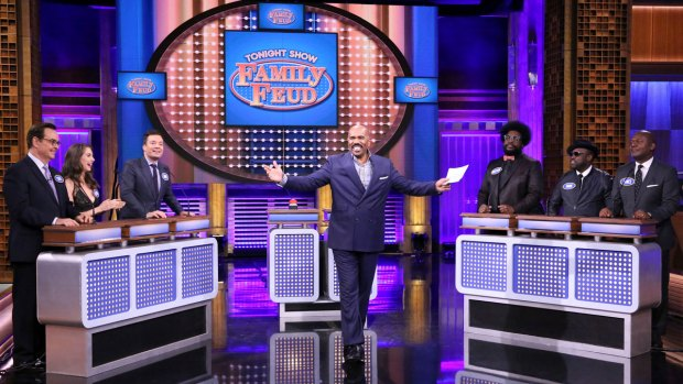 [NY] 'Tonight' Family Feud with Steve Harvey, Alison Brie