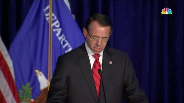 [NATL] AG Rosenstein Praises Sessions at Crime Summit