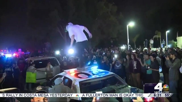 17 Arrested at Trump Rally Protest