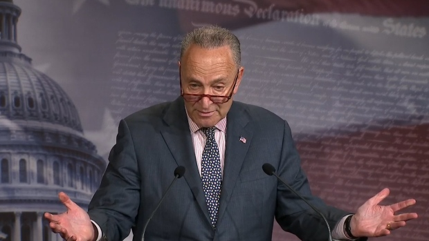 [NATL]  Schumer Weighs in on McConnell-Stewart Feud