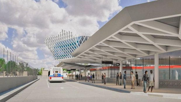 Artist Renderings: Red Line's New 95th Street Station