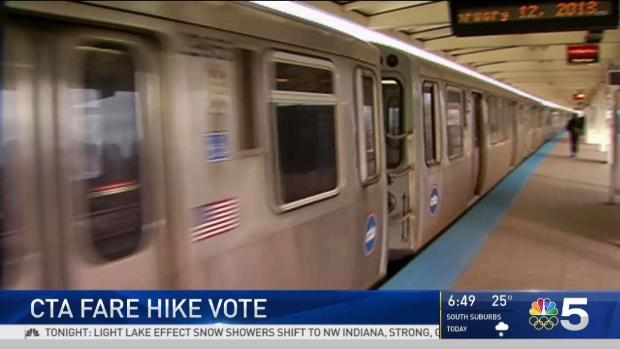 CTA Board Approves First Fare Hike in Nearly a Decade - NBC