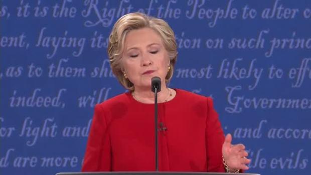 [NATL] Presidential Debate: Clinton on Cybersecurity