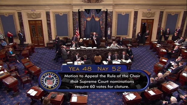 Senate confirms Neil Gorsuch to Supreme Court after Republicans use 'nuclear option'
