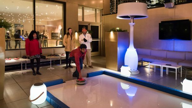 Chicago Hotel Opens Rooftop Curling Rink