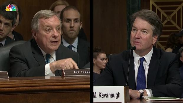 Durbin Pushes Kavanaugh to Ask for FBI Investigation