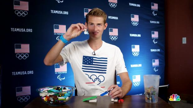 Kevin Bickner Explains Ski Jumping With Legos