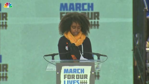 11-Year-Old Naomi Wadler Speaks at March for Our Lives